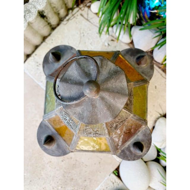 Vintage Moroccan Lantern Candle Holder For Sale - Image 4 of 12