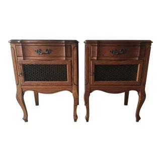 Vintage French Provincial Side Tables/Nightstands - A Pair