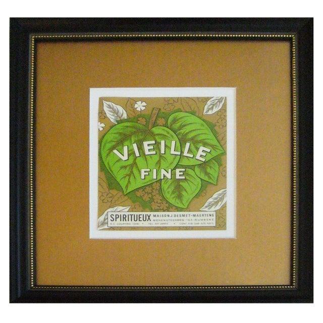 Framed French Vintage Wine Label - Image 1 of 3