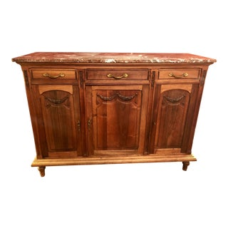 Late 19th Century Antique French Napoleon III Walnut Sideboard For Sale