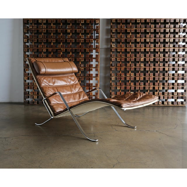 Preben Fabricius and Jørgen Kastholm Grasshopper Chaise for Alfred Kill For Sale - Image 13 of 13