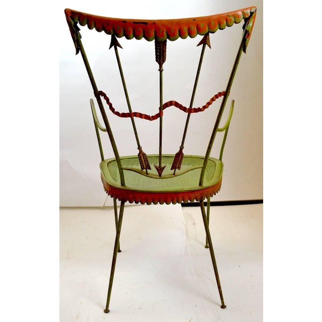 Pair of Tomaso Buzzi Wrought Iron Armchairs For Sale In New York - Image 6 of 10