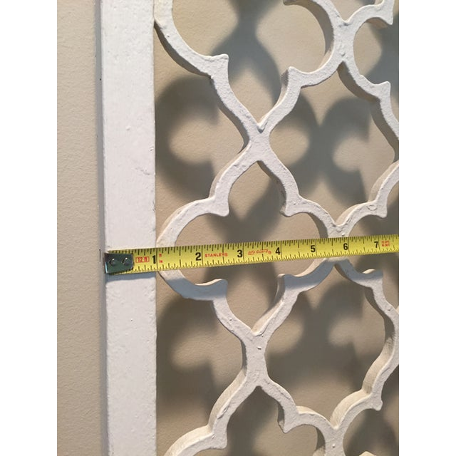 Traditional Mid-Century Metal Wall Divider Screens - A Pair For Sale - Image 3 of 5