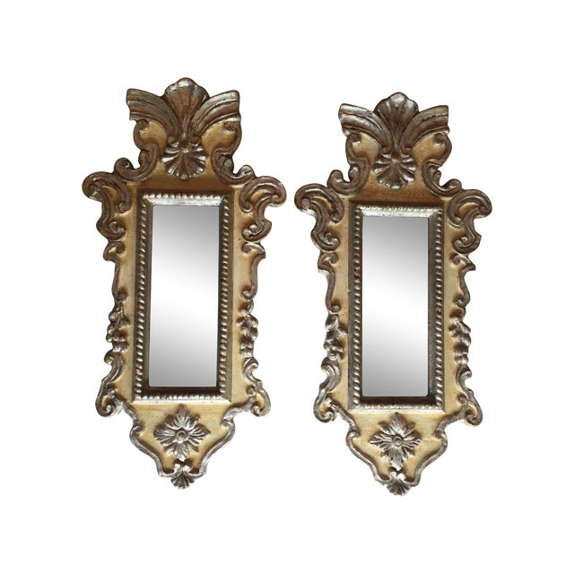 Vintage Venetian Mirrors - a Pair - Image 1 of 6