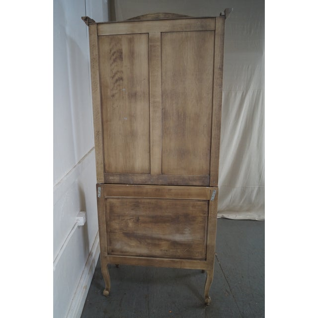 French Louis XV Style Painted Secretary Desk - Image 4 of 10
