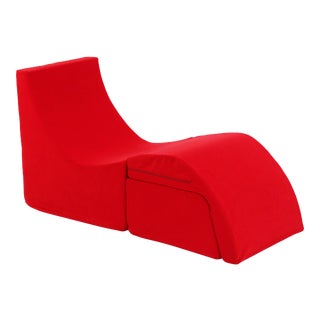 "Vintage Modern Karim Rashid for Umbra Red ""Q Chaise"" For Sale"