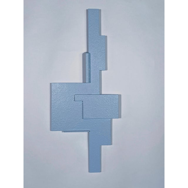 """""""Blue Assemblage"""" Contemporary Abstract Wall Sculpture by James Worsham For Sale - Image 4 of 4"""