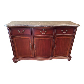 Manchester Marble Top Buffet Server Chest