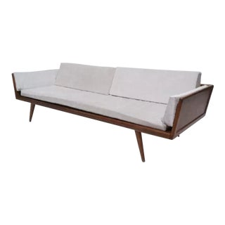 1950s Vintage Mel Smilow Walnut Day Bed For Sale