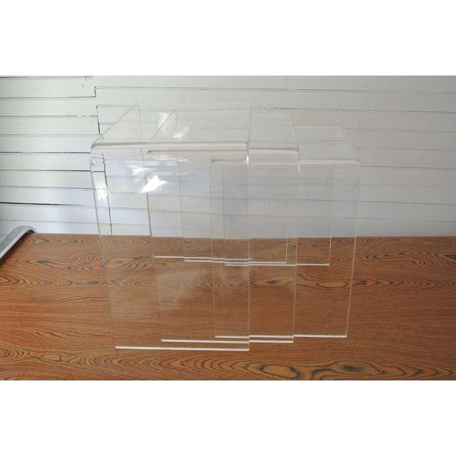Set of Three Acrylic Lucite Nesting Tables For Sale - Image 4 of 8