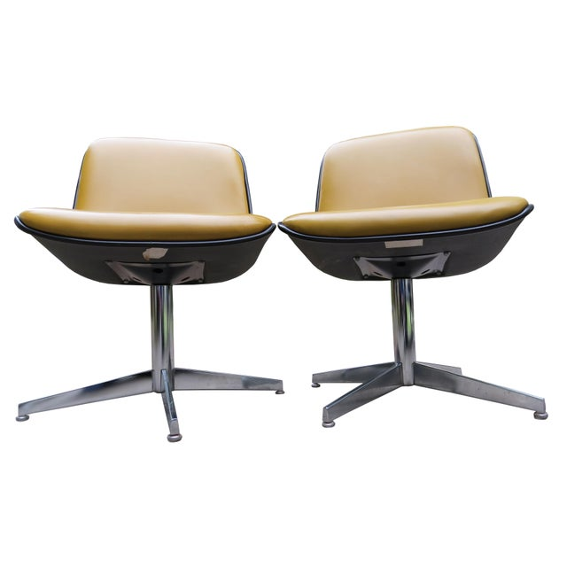 Vintage Steelcase Swivel Chairs - A Pair For Sale - Image 9 of 13