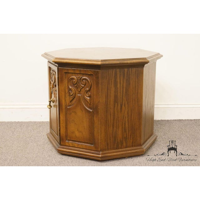 American of Martinsville Octagonal Storage End Table For Sale In Kansas City - Image 6 of 10