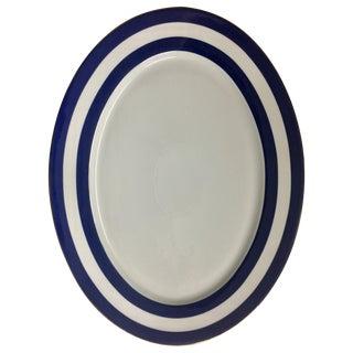 Ralph Lauren Home Oval Serving Platter in Cadet Spectator Pattern For Sale