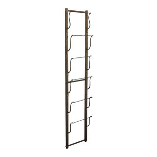 Antique Hotel Magazine Wall Brass Rack