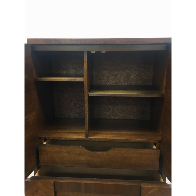 Brown Brutalist Armoire by Lane For Sale - Image 8 of 13