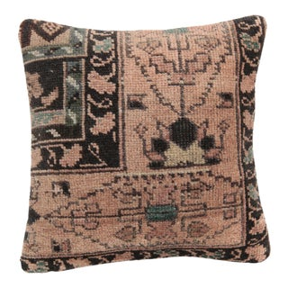 Boho Chic Wool Rug Pillow For Sale