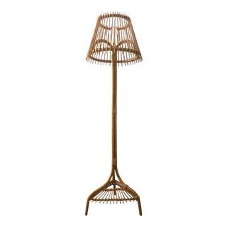 Mid Century Bamboo Floor Lamp