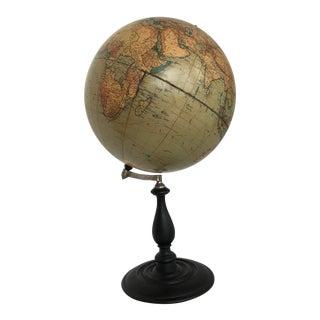 Early 20th Century Vintage World Globe