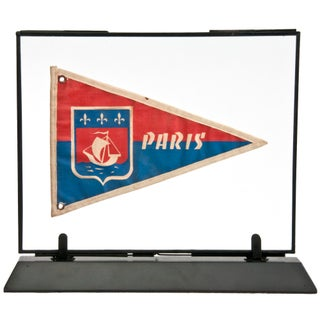 Framed Vintage French Paris Pennant For Sale