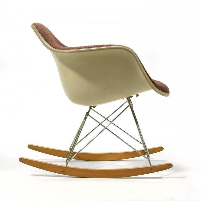 """Eames """"Baby Rocker"""" Rar by Herman Miller with Alexander Girard Upholstery For Sale - Image 5 of 11"""