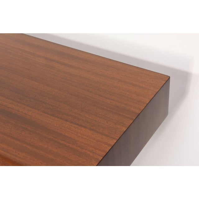 """Heritage-Henredon American Modern Mahogany """"Taliesin Group"""" Low Table or Bench, Frank Lloyd Wright For Sale - Image 4 of 5"""