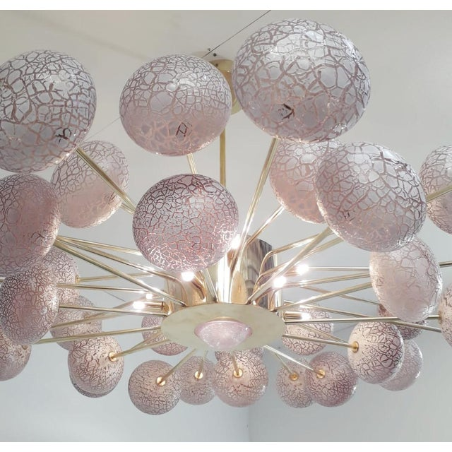 Purple Crackled Orbs Chandelier by Fabio Ltd For Sale - Image 8 of 12