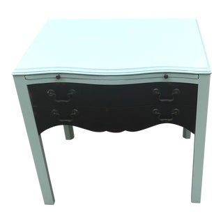 1930s Painted Side Table With Pull Out Tray For Sale