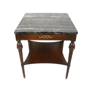 Italian Neoclassical-Style Marble Top Side Table For Sale