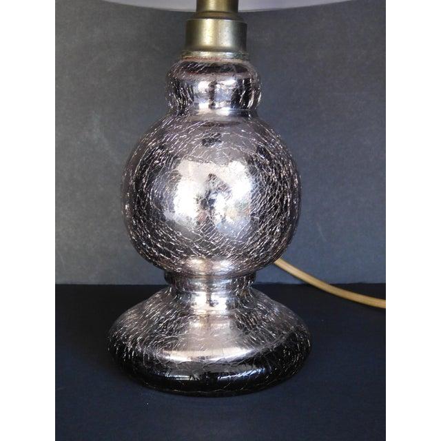 Vintage Pink Mercury Glass Boudoir Lamp - Image 4 of 5