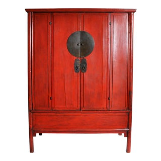 Chinese Armoire with Two Doors For Sale