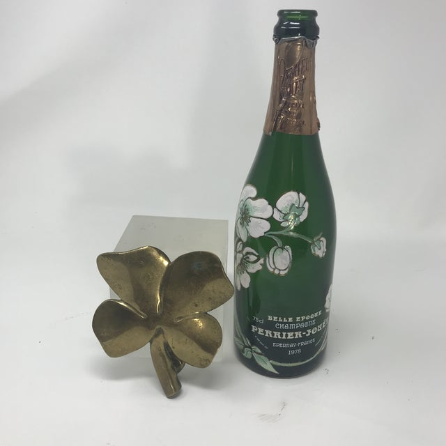 Need the luck of the Irish for New Year? This very neat solid brass door knocker of a four-leaf clover should do the...