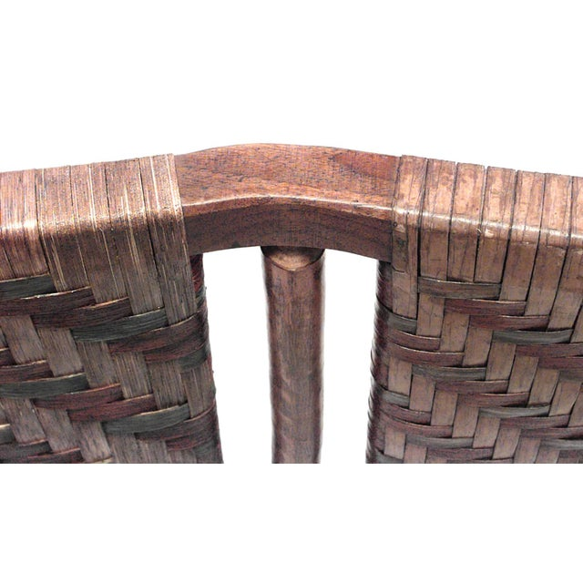 Rustic 20th C. American Old Hickory Woven Design Bed For Sale - Image 3 of 4