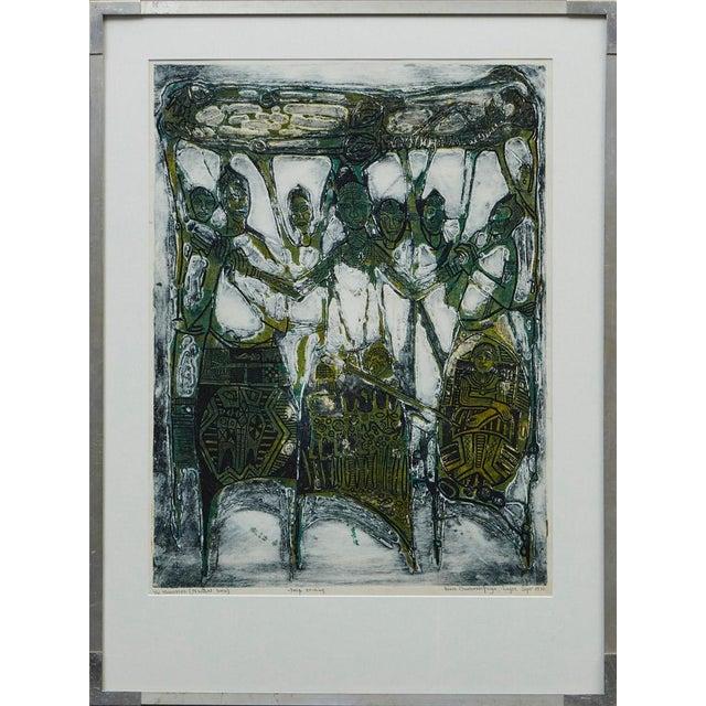 Bruce Onobrakpeya Nomorere Print For Sale - Image 11 of 11