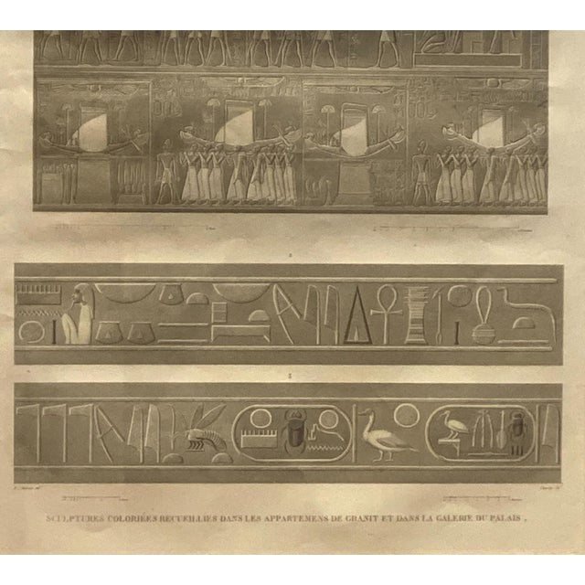 Engraving of an Egyptian Monument, France Circa 1810 For Sale - Image 4 of 5