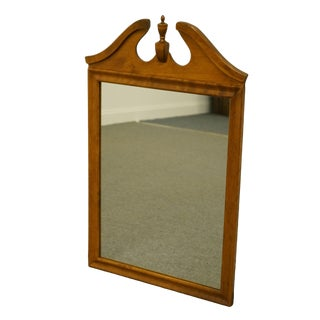 Ethan Allen Heirloom Nutmeg Maple Dresser / Wall Pediment Mirror For Sale