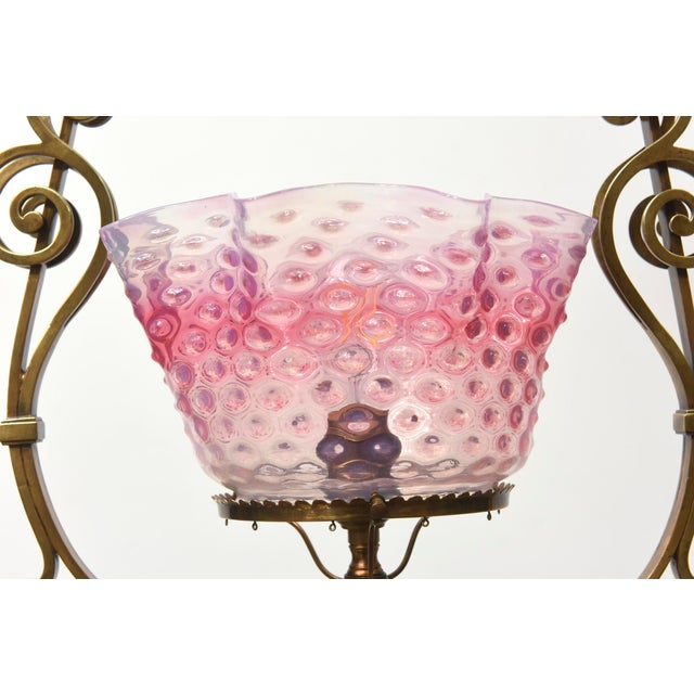 Ruffled Pink Hobnail Lantern For Sale In Boston - Image 6 of 11