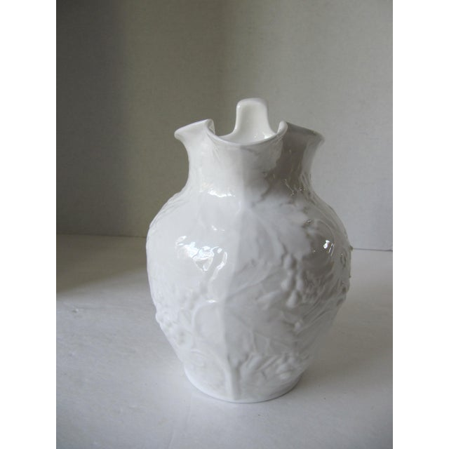 Wedgewood Strawberry and Vine pitcher, bone china. Made in England. Marked Wedgewood 1988.