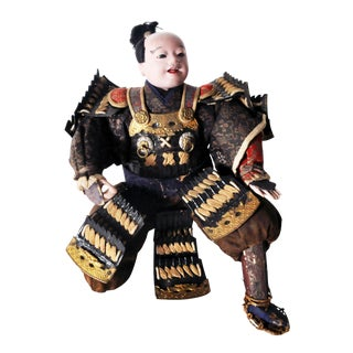 Musha Samurai Warrior Figure C. 1850 For Sale