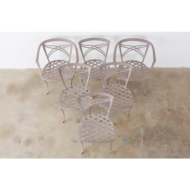 Neoclassical Brown Jordan Neoclassical Garden Dining Chairs - Set of 6 For Sale - Image 3 of 13