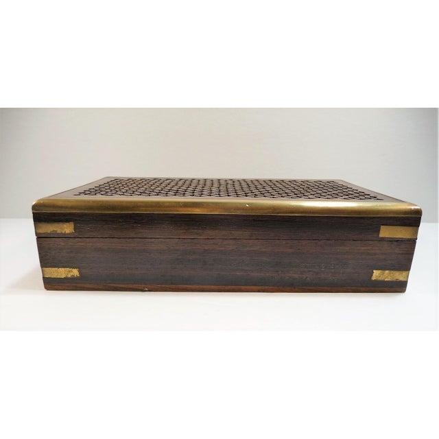 Vintage Pierced Wood Box - Image 3 of 7