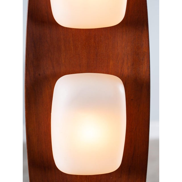 Goffredo Reggiani Vintage 1970s Italian Goffredo Reggiani Surfboard Floor Lamp For Sale - Image 4 of 12