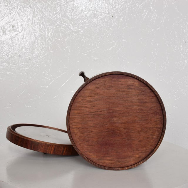 Mid-Century Modern Rosewood Ice Bucket For Sale - Image 10 of 11