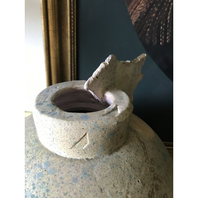 Art Deco Clay Vase Sculpture For Sale - Image 4 of 6