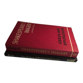 William Shakespeare Sonnets & Imagery Books - A Pair For Sale