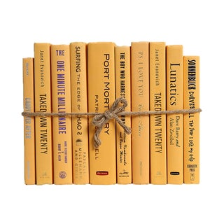Modern Mango ColorPak : Decorative Books in Shades of Yellow For Sale
