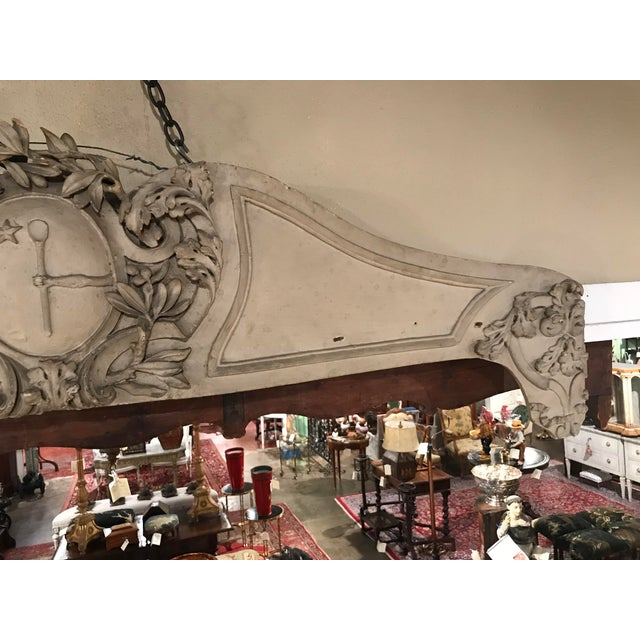 18th Century French Carved and Painted Serpentine Wall Sculpture from Provence For Sale In Dallas - Image 6 of 6