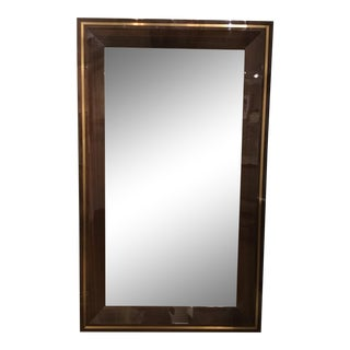 Interlude Home Modern Dax Grand Lacquered Eucalyptus Wood Floor Mirror For Sale