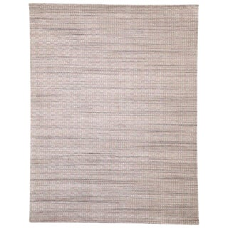 Transitional Area Rug With Scandinavian Modern Style - 9′1″ × 11′10″ For Sale