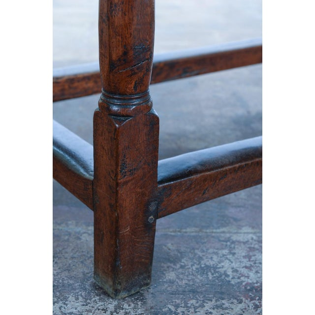 18th C. Antique English Farmhouse Table For Sale - Image 4 of 8