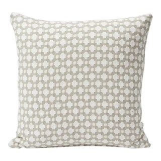 Schumacher Double-Sided Pillow in Betwixt Woven Print For Sale